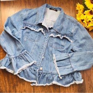Sugarlips Raw Hem Denim Jacket - Size XL